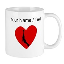 Custom Basketball Dunk Heart Mugs