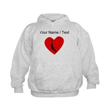 Custom Basketball Dunk Heart Hoodie