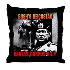 WTC Bush's Reichstag Throw Pillow