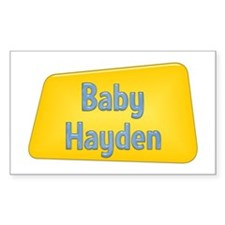 Baby Hayden Rectangle Decal