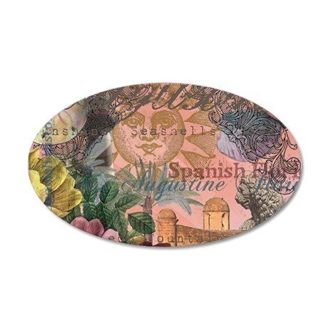 St. Augustine Florida Vintage Collage Wall Decal