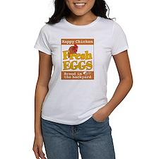 Happy Chicken Fresh Eggs Ash Grey T-Shirt