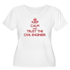 Keep Calm and Trust the Civil Engineer Plus Size T