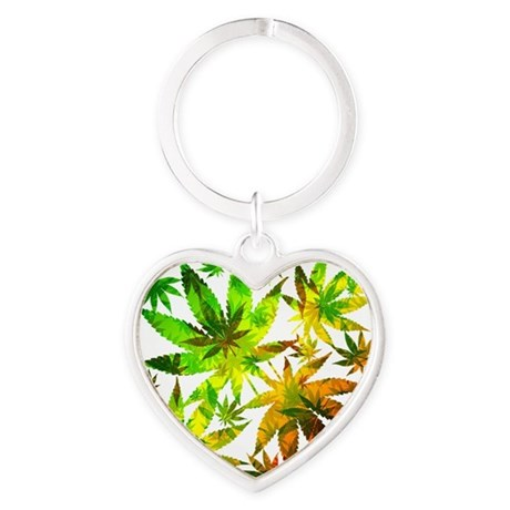 Marijuana Cannabis Leaves Pattern Keychains