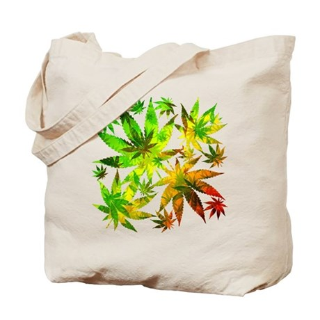 Marijuana Cannabis Leaves Pattern Tote Bag