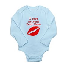 I Love My Aunt (Your Name) Lips Body Suit
