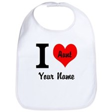 I Heart Aunt (Your Name) Bib
