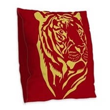 Tiger Tiger Burlap Throw Pillow