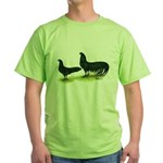Black Sumatra Chickens Green T-Shirt