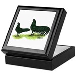 Black Sumatra Chickens Keepsake Box
