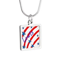 Personalize name Stripes And Stars Necklaces