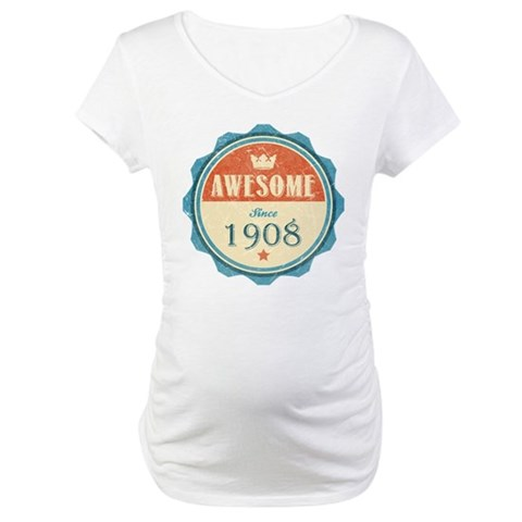 Awesome Since 1908 Dark Maternity T-Shirt
