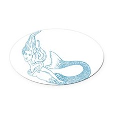 Cute Secret Oval Car Magnet