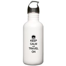 Keep Calm and Travel O Water Bottle
