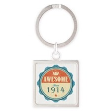 Awesome Since 1914 Square Keychain