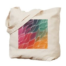 Multi Colored Waves Abstract Design Tote Bag