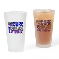 RA Find the Cure Drinking Glass