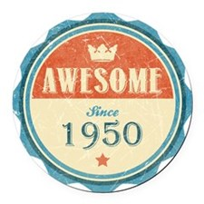 Awesome Since 1950 Round Car Magnet