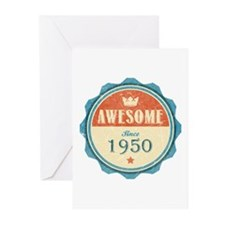 Awesome Since 1950 Greeting Cards (10 pack)