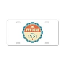 Awesome Since 1951 Aluminum License Plate