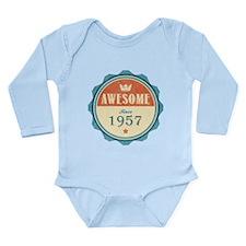 Awesome Since 1957 Long Sleeve Infant Bodysuit