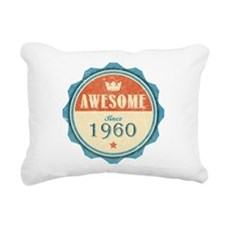 Awesome Since 1960 Rectangular Canvas Pillow