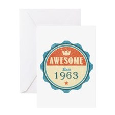Awesome Since 1963 Greeting Card