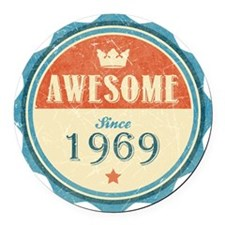 Awesome Since 1969 Round Car Magnet