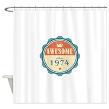 Awesome Since 1974 Shower Curtain