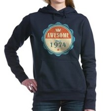 Awesome Since 1974 Woman's Hooded Sweatshirt