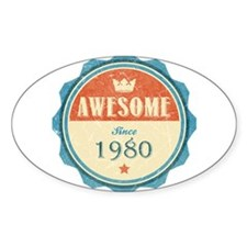 Awesome Since 1980 Oval Decal