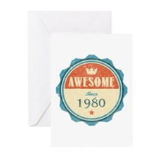 Awesome Since 1980 Greeting Cards (20 pack)