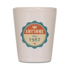 Awesome Since 1987 Shot Glass