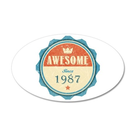 Awesome Since 1987 38.5 x 24.5 Oval Wall Peel