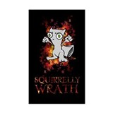 Squirrelly Wrath BLACK Rectangle Decal