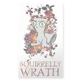 Squirrelly Wrath! Rectangle Decal