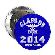 """Class of 2014 Girl Soccer 2.25"""" Button"""