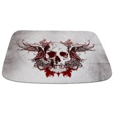 Dark Red Skull Bathmat