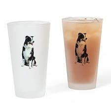 Australian Shep (BW) Drinking Glass