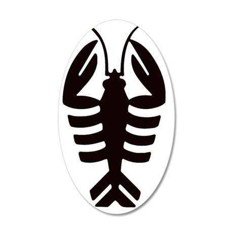 Vintage Art Deco Lobster 35x21 Oval Wall Decal