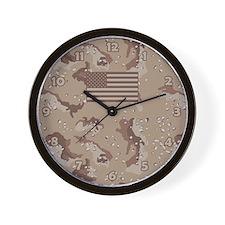 Us Army Desert Camo Wall Clock