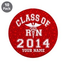 "Class Of 2014 RN 3.5"" Button (10 pack)"