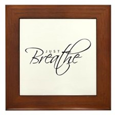Just Breathe - Framed Tile
