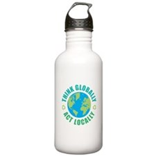 Think Globally, Act Lo Water Bottle