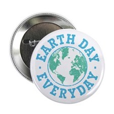 "Vintage Earth Day Everyday 2.25"" Button (10 pack)"