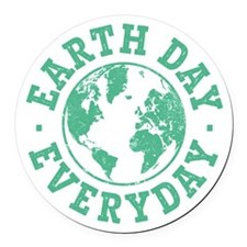 Vintage Earth Day Everyday Round Car Magnet