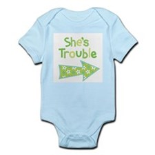 Shes Trouble Star Arrow Body Suit
