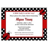 Ladybug baby shower Invitations & Announcements