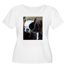 French Bulldog in Tie Dye Plus Size T-Shirt