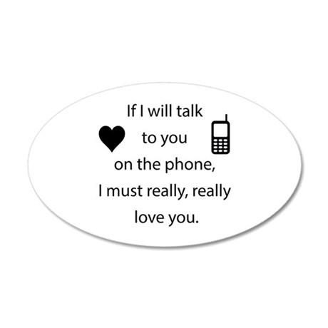 Introvert Love 20x12 Oval Wall Decal
